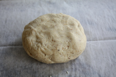 The dough looks like this