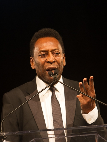 Our king Pelé (Photo by Ricardo de Mattos)