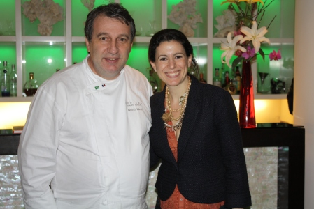 Chef Roland Villar and me, THANK YOU!!! Big smile after an unforgettable meal