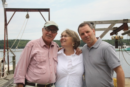 Charlie Wing (left), Barbara, and Dean